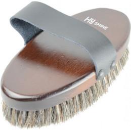 HySHINE Deluxe Horse Hair Wooden Body Brush