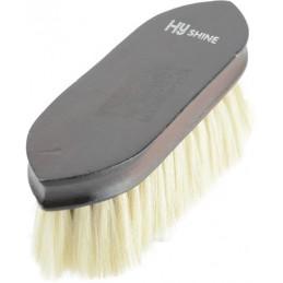 HySHINE Deluxe Goat Hair Wooden Dandy Brush