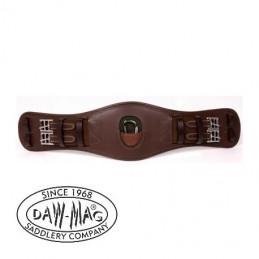 Popręg skórzany ujeżdżeniowy z karabinkiem DAW MAG