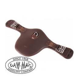 Popręg skórzany skokowy z karabinkiem krótki DAW MAG