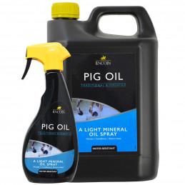 Spray do sierści i na grudę dla konia Lincoln Pig Oil
