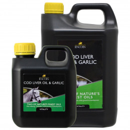 Olej z wątroby dorsza z dodatkiem czosnku LINCOLN COD LIVER OIL
