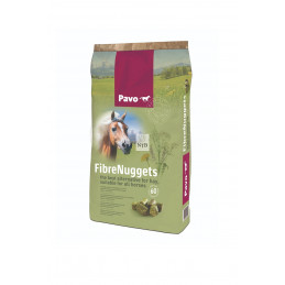 Trawokulki dla konia -Pavo Fibre Nuggets 20 kg