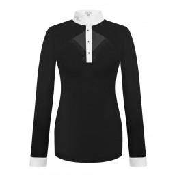Koszulka FP CATHRINE LS czarno-biały