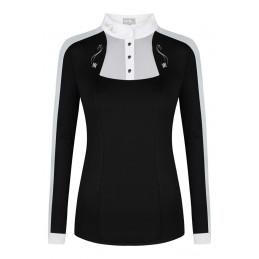 Koszulka FP LORELLA LS czarno-biały