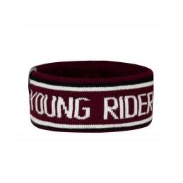Opaska na uszy do jazdy - FP YOUNG RIDER BAND czarny-wrzos