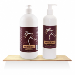 WHITE HORSE Shampoo Over Horse